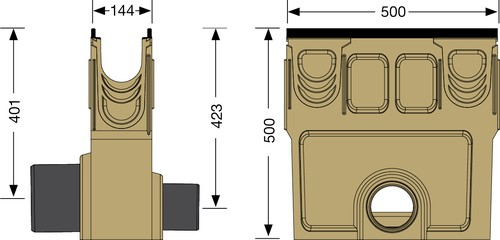 Image Accessories dimensions for KF-100 sump unit