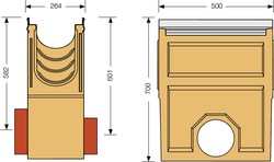 Image Accessories dimensions for KE-200 sump unit
