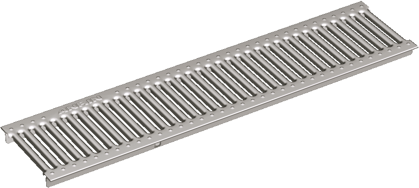 Slotted grating HEELGUARD