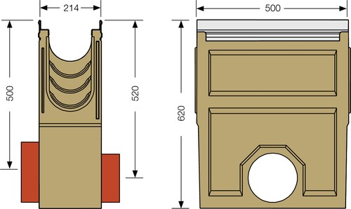 Image Accessories dimensions for KE-150 sump unit