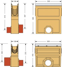 Image Accessories dimensions for KE-100 sump unit