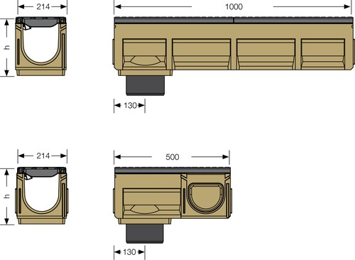 Image Gutter size for SF-150 Heavy duty channel
