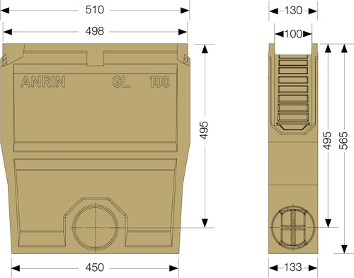 Image Accessories dimensions for SELF GL-100 sump unit