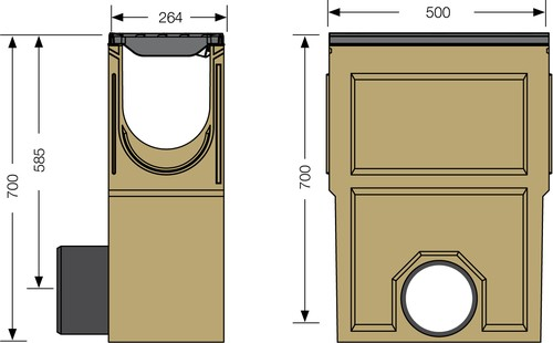 Image Accessories dimensions for SF-200 sump unit