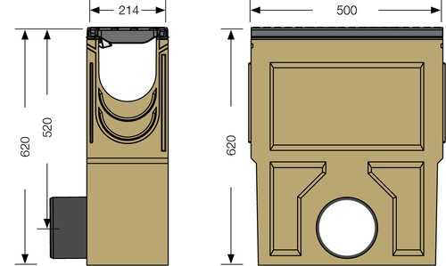 Image Accessories dimensions for SF-150 sump unit